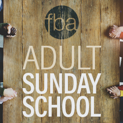 Adult Sunday School Summer Session